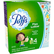 Puffs Plus Lotion Facial Tissue Cube, 4 pk