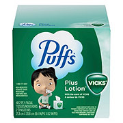 Puffs Plus Lotion with Scent of Vicks Facial Tissue Cube