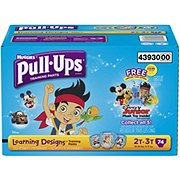 Pull-Ups Learning Designs Boys Training Pants with Plushie, 74 Count
