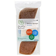 Pura Naturals Kitchen Sponge Walnut Scrubber