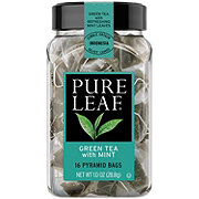 Pure Leaf Hot Green Tea with Mint Pyramid Tea Bags