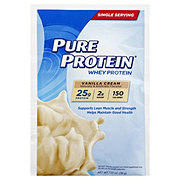 Pure Protein Whey Protein Powder, Vanilla Single