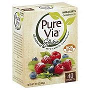 Pure Via Stevia Natural Zero Calorie Sweetener Packets
