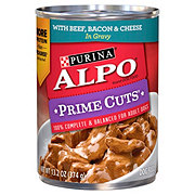 Purina Alpo Prime Cuts with Beef Bacon & Cheese in Gravy Wet Dog Food