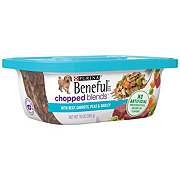 Purina Beneful Chopped Blends With Beef Carrots Peas and Barley