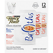 Purina Fancy Feast Broth Classic Collection Cat Food Variety Pack