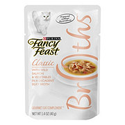 Purina Fancy Feast Classic Broths With Wild Salmon and Vegetables Cat Treat