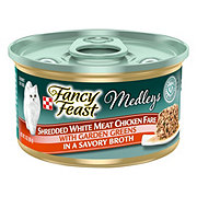 Purina Fancy Feast Elegant Medleys Shredded White Meat Chicken Fare with Garden Greens in Savory Broth Gourmet Cat Food