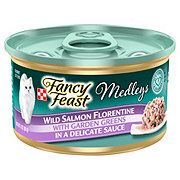 Purina Fancy Feast Elegant Medleys Wild Salmon Florentine with Garden Greens in a Delicate Sauce Gourmet Cat Food