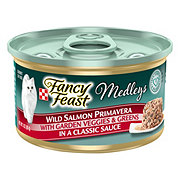 Purina Fancy Feast Elegant Medleys Wild Salmon Primavera with Garden Veggies and Greens in a Classic Sauce Gourmet Cat Food