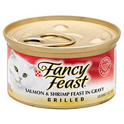 Purina Fancy Feast Grilled Salmon & Shrimp Feast in Gravy Gourmet Cat Food