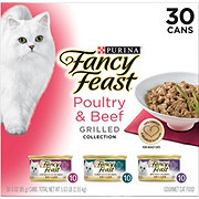 Purina Fancy Feast Poultry & Beef Grilled Gourmet Cat Food Variety Pack