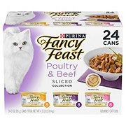 Purina Fancy Feast Sliced Poultry & Beef Variety Gourmet Cat Food 24 pk