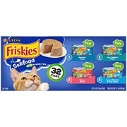 Purina Friskies Classic Pate Seafood Cat Food Variety Pack