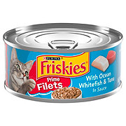 Purina Friskies Prime Filets Ocean Whitefish and Tuna in Sauce Cat Food