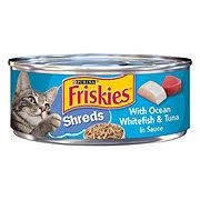 Purina Friskies Savory Shreds Ocean Whitefish and Tuna in Sauce