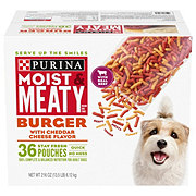 Purina Moist & Meaty Burger with Cheddar Cheese Dry Dog Food