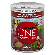 Purina One SmartBlend Healthy Weight Tender Cuts Lamb & Brown Rice in gravy Wet Dog Food