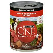 Purina One SmartBlend Natural Classic Ground Beef & Brown Rice Wet Dog Food