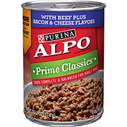Purina Prime Classics With Beef Plus Bacon & Cheese Flavors Dog Food