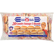 Purnell's Old Folks Country Sausage and Biscuits, 10 Twin Packs
