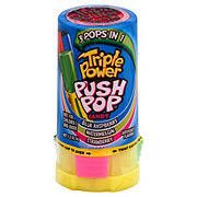 Push Pop Twisted Triple Power Fruit Candy