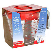 Pyrex 2 cup Measuring Cup with Red Plastic Lid