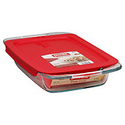 Pyrex Easy Grab 2 qt Oblong Baking Dish with Red Lid