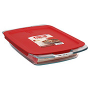Pyrex Easy Grab 3 qt Oblong Baking Dish with Red Lid