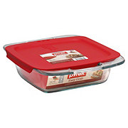 Pyrex Easy Grab Square Baking Dish with Red Lid