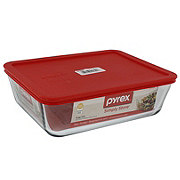 Pyrex Rectangular Storage Dish with Red Lid