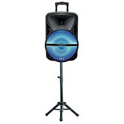 QFX Battery Powered Portable Pa Speaker With Tripod