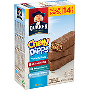 Quaker Chewy Dipps Chocolatey Covered Granola Bars Value Pack