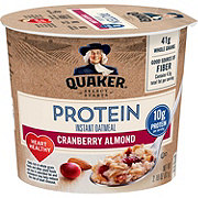 Quaker Cranberry Almond Select Starts Protein Instant Oatmeal Cup