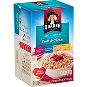 Quaker Fruit & Cream Instant Oatmeal Variety Pack