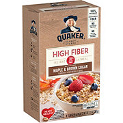 Quaker High Fiber Maple and Brown Sugar Instant Oatmeal Packets