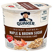 Quaker Maple & Brown Sugar Instant Oatmeal Cup