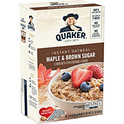 Quaker Maple & Brown Sugar Instant Oatmeal Packets