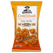 Quaker Popped Cheddar Cheese Rice Crisps Snack