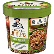 Quaker Real Medleys Apple Walnut Oatmeal+ Cup