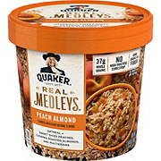 Quaker Real Medleys Peach Almond Oatmeal+