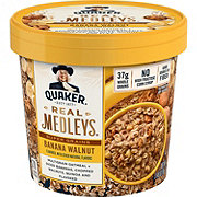 Quaker Real Medleys Super Grains Banana Walnut Flavor Oatmeal