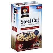 Quaker Steel Cut Quick 3 Minute Blueberry Cranberry Oatmeal