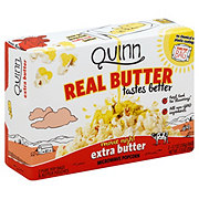 Quinn Real Butter Tastes Better Extra Butter Microwave Popcorn