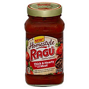 Ragu Homestyle Thick & Hearty Flavored with Meat Sauce
