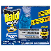 Raid Max Deep Reach Concentrated Fogger, 2.1 oz cans