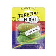 Rainbow Plastics Torpedo Float Stealth Rattler, Green
