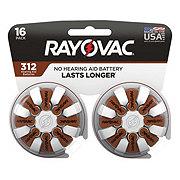Rayovac Brand Batteries, Hearing Aid 312