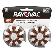 Rayovac Hearing Aid Size 312 Value Pack Batteries