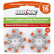 Rayovac Size 13 Hearing Aid Value Pack Batteries